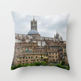 View to the old town in Siena, Italy Throw Pillow