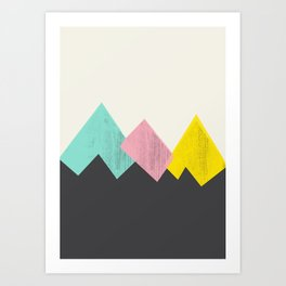 Pastel Mountains III Art Print