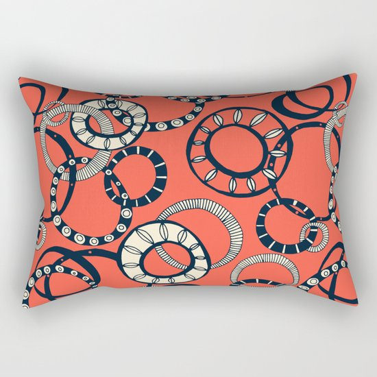 Honolulu hoopla orange Rectangular Pillow