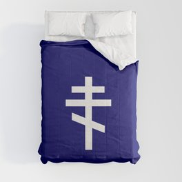 orthodox or russian cross 2 Comforters
