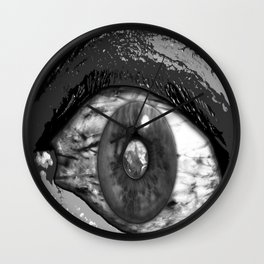 Inter Dimensional Sight Black and White Wall Clock