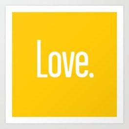 Love Period (Crocus Yellow) Art Print