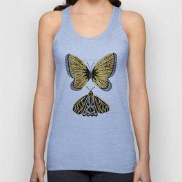 Golden Butterfly & Moth Unisex Tank Top
