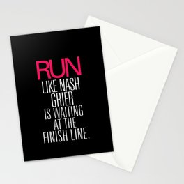 Run like Nash Grier is waiting at the Finish Line Stationery Cards