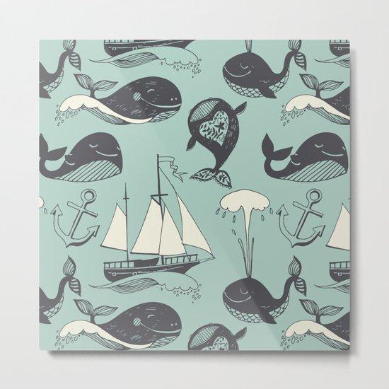 Whales 2 Metal Print