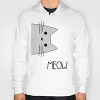 meow Hoodies featuring Meow by Hugh & West