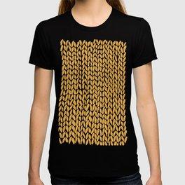Hand Knit Orange T-shirt