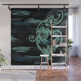 Abstract Tribal Turtles Wall Mural