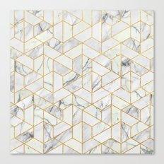 Marble hexagonal pattern Canvas Print