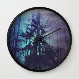 luminous forest Wall Clock
