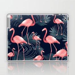 Summer Flamingo Palm Night Vibes #1 #tropical #decor #art #society6 Laptop & iPad Skin