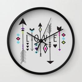 Love Gray Wall Clock