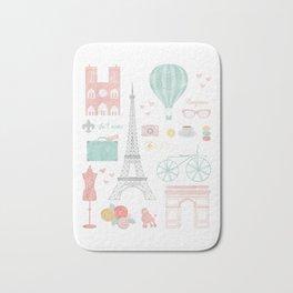 Paris Travel Print Bath Mat