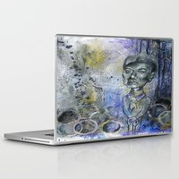 david bowie Laptop & iPad Skins featuring David Bowie Fever by Renee Rolewicz