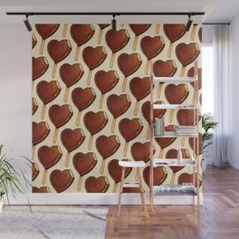 Ice Cream Pattern - Heart Wall Mural