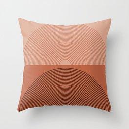 Minimal Rainbow Color Block V Throw Pillow