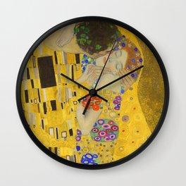 Gustav Klimt The Kiss Detail Wall Clock