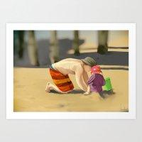 The Heart of the Beach Art Print