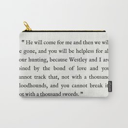 """Book Page - The Princess Bride """"The Bond of Love"""" Quote Carry-All Pouch"""