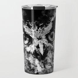 owl perfect black white Travel Mug