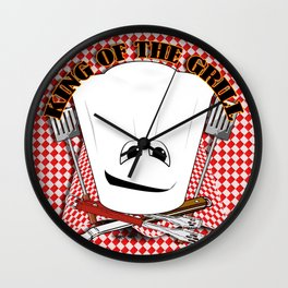 King of the Grill Wall Clock