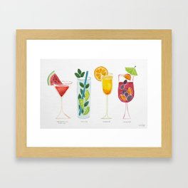 Summer Cocktails Framed Art Print