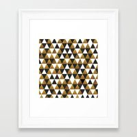 black and gold Framed Art Prints featuring Black/Gold by T.Fischer