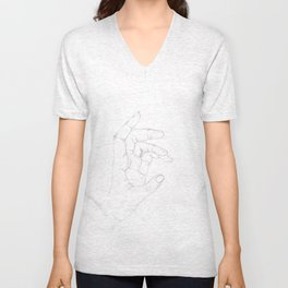 Hand drawing Unisex V-Neck