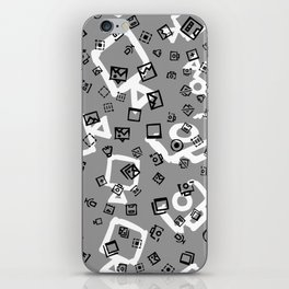 pattern with symbols of photos and videos iPhone Skin
