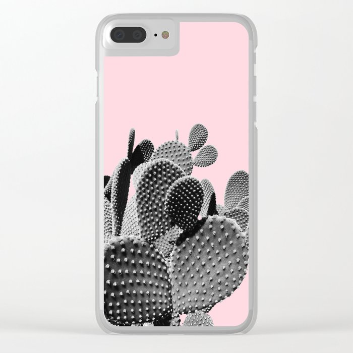sports shoes 68b09 a75f6 Bunny Ears Cactus on Pastel Pink #cactuslove #tropicalart Clear iPhone Case  by dominiquevari