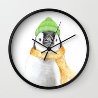 penguin Wall Clocks featuring Penguin by 13 Styx