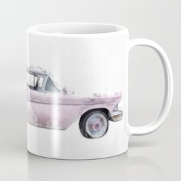 Pink Ford Edsel  Watercolor Coffee Mug
