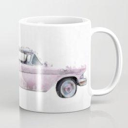 Pink Ford Edsel  Watercolor Coffee Mug