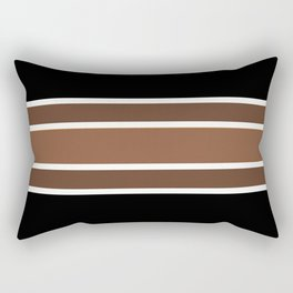 TEAM COLORS 2.....brown,black and white Rectangular Pillow