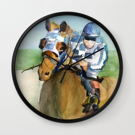 Jockey  Wall Clock