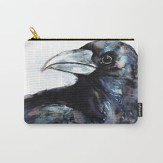 Raven, Watercolor Carry-All Pouch