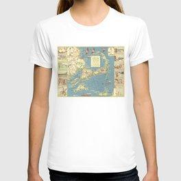 Vintage Cape Cod Map (1940) T-shirt