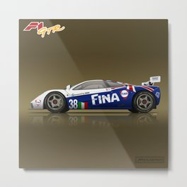 1996 McLaren F1 GTR #16R FINA Metal Print