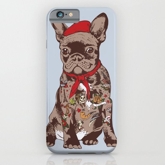 French Bulldog Tattoo iPhone & iPod Case