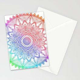 Rainbow Mandala Doodle Stationery Cards
