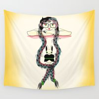 rapunzel Wall Tapestries featuring Rapunzel by famenxt