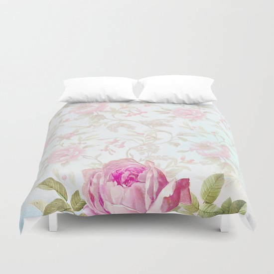 Pretty Book Cover Queen : Pretty vintage roses duvet cover by juliana rw society