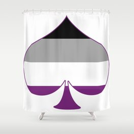 Asexual Spade Shower Curtain