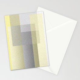 Yellow Shadows Stationery Cards