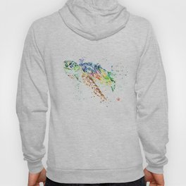Sea Turtle Colorful Watercolor Painting Hoody