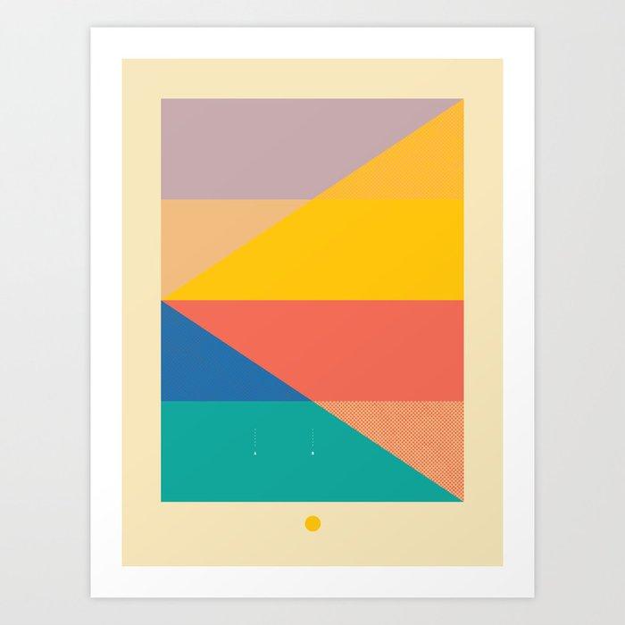 Secret Surf Map 006 — Matthew Korbel-Bowers Art Print
