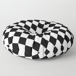 HARLEQUIN BLACK AND WHITE PATTERN #2 Floor Pillow