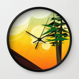 A View From the Best Seat in the Yard Wall Clock