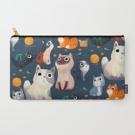 Cat Print Carry-All Pouch