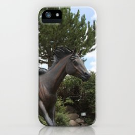 HORSES AT LARGE iPhone Case